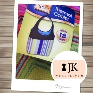 Thermal Cooler Lunch Bag Zig Zag Pattern